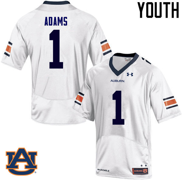 Youth Auburn Tigers #1 Montravius Adams College Football Jerseys Sale-White