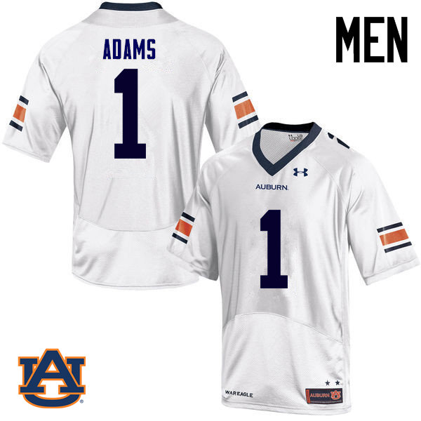 Men Auburn Tigers #1 Montravius Adams College Football Jerseys Sale-White