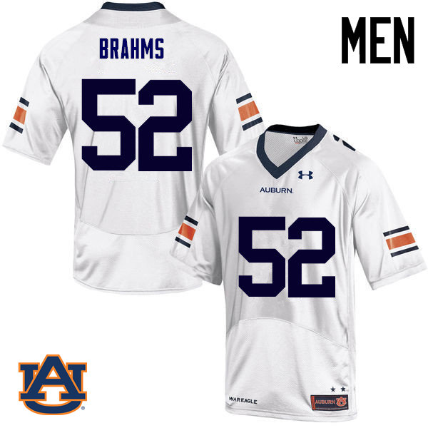 Men Auburn Tigers #52 Nick Brahms College Football Jerseys Sale-White