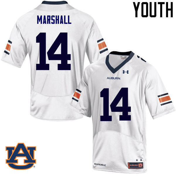 Youth Auburn Tigers #14 Nick Marshall College Football Jerseys Sale-White