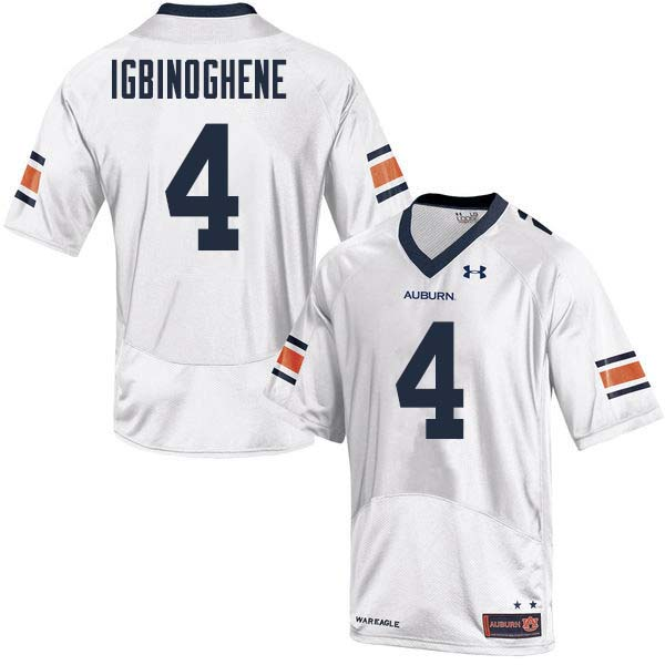 Men Auburn Tigers #4 Noah Igbinoghene College Football Jerseys Sale-White