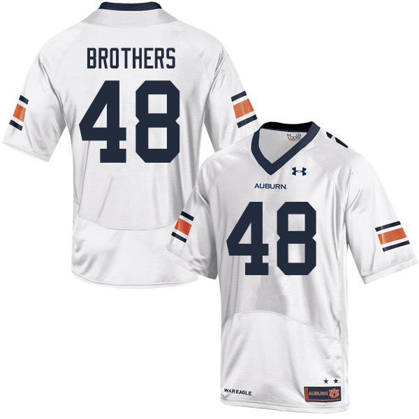 Men #48 O.C. Brothers Auburn Tigers College Football Jerseys Sale-White