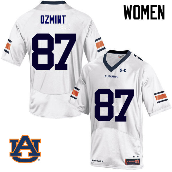 Women Auburn Tigers #87 Pace Ozmint College Football Jerseys Sale-White