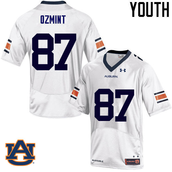 Youth Auburn Tigers #87 Pace Ozmint College Football Jerseys Sale-White