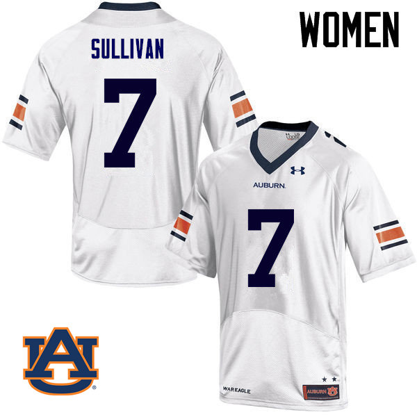 Women Auburn Tigers #7 Pat Sullivan College Football Jerseys Sale-White