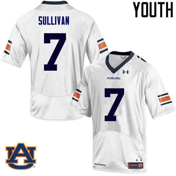 Youth Auburn Tigers #7 Pat Sullivan College Football Jerseys Sale-White