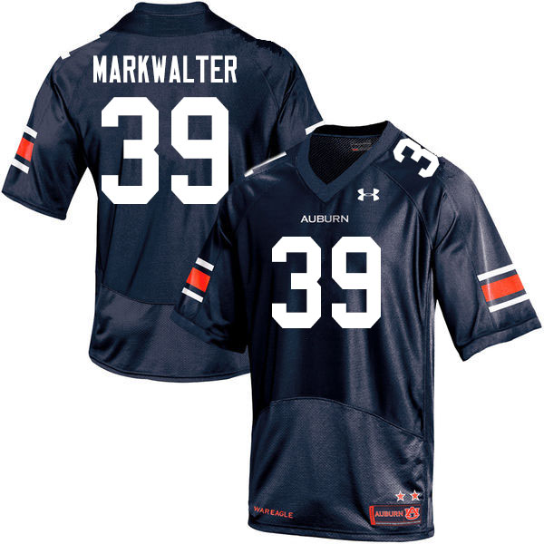 Men #39 Patrick Markwalter Auburn Tigers College Football Jerseys Sale-Navy