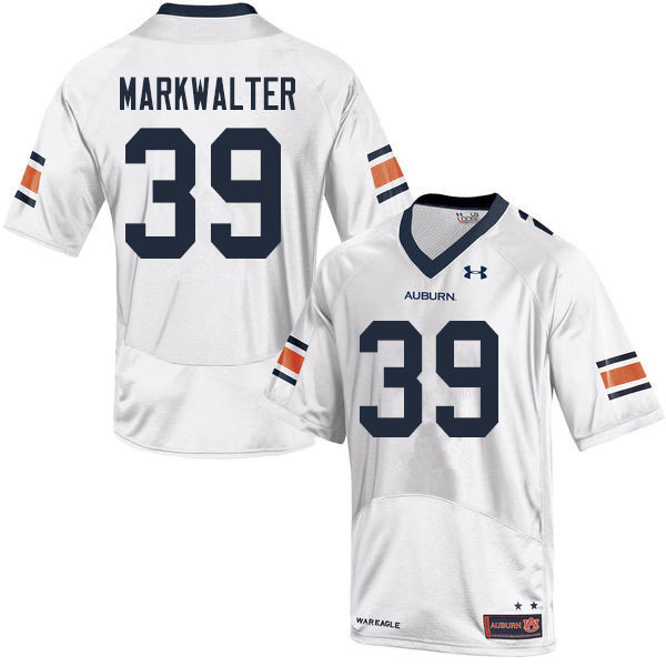 Men #39 Patrick Markwalter Auburn Tigers College Football Jerseys Sale-White