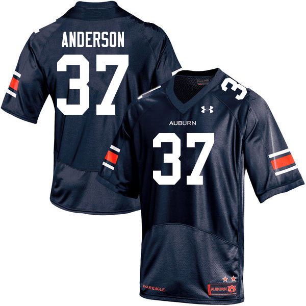 Men #37 Payton Anderson Auburn Tigers College Football Jerseys Sale-Navy