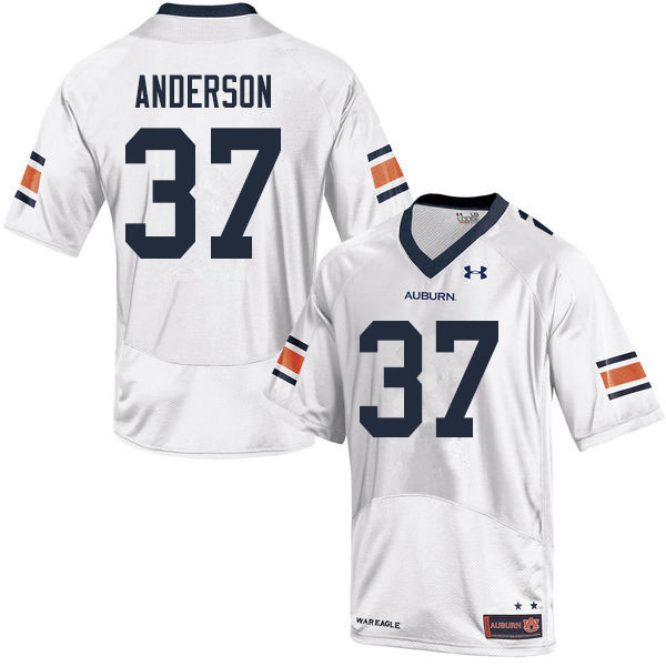 Men #37 Payton Anderson Auburn Tigers College Football Jerseys Sale-White