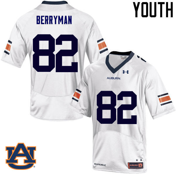 Youth Auburn Tigers #82 Pete Berryman College Football Jerseys Sale-White