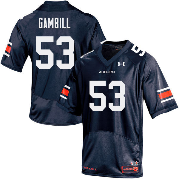 Men Auburn Tigers #53 Phelps Gambill College Football Jerseys Sale-Navy