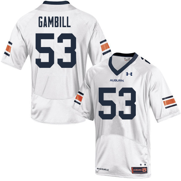 Men Auburn Tigers #53 Phelps Gambill College Football Jerseys Sale-White