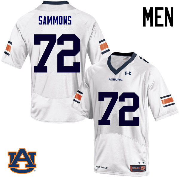 Men Auburn Tigers #72 Prince Micheal Sammons College Football Jerseys Sale-White