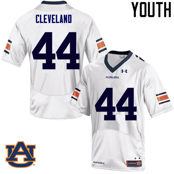 Youth Auburn Tigers #44 Rawlins Cleveland College Football Jerseys Sale-White