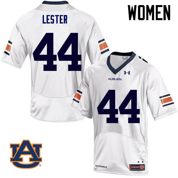 Women Auburn Tigers #44 Raymond Lester College Football Jerseys Sale-White