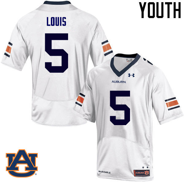 Youth Auburn Tigers #5 Ricardo Louis College Football Jerseys Sale-White