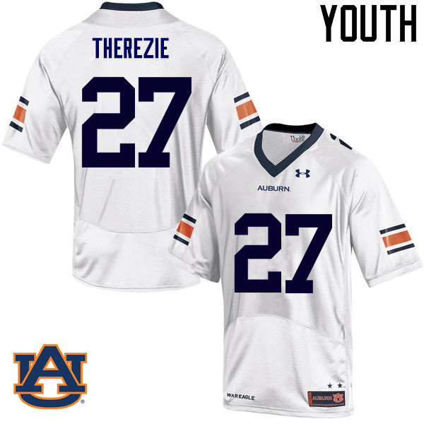 Youth Auburn Tigers #27 Robenson Therezie College Football Jerseys Sale-White