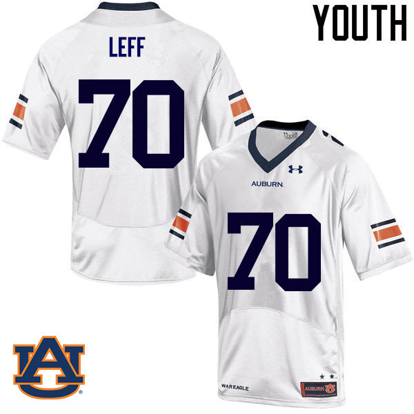 Youth Auburn Tigers #70 Robert Leff College Football Jerseys Sale-White