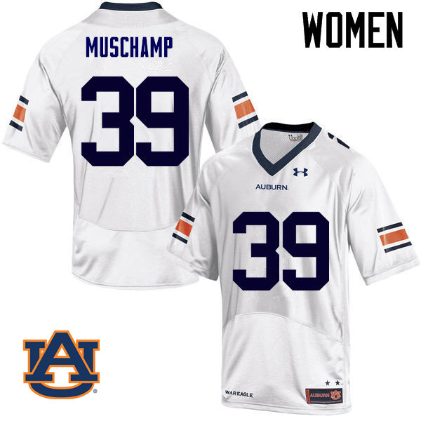 Women Auburn Tigers #39 Robert Muschamp College Football Jerseys Sale-White