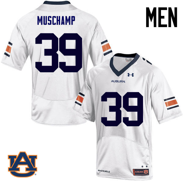 Men Auburn Tigers #39 Robert Muschamp College Football Jerseys Sale-White