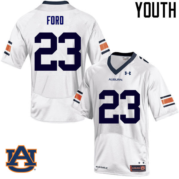 Youth Auburn Tigers #23 Rudy Ford College Football Jerseys Sale-White