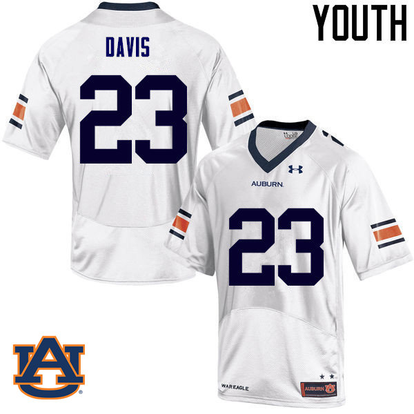 Youth Auburn Tigers #23 Ryan Davis College Football Jerseys Sale-White