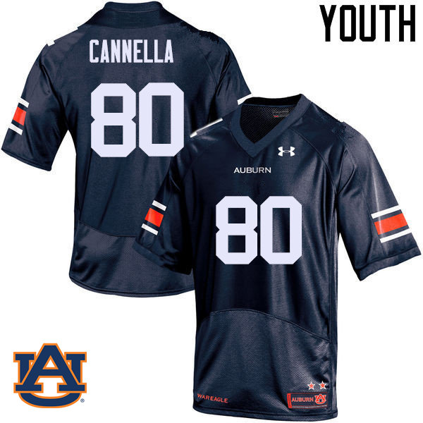 Youth Auburn Tigers #80 Sal Cannella College Football Jerseys Sale-Navy