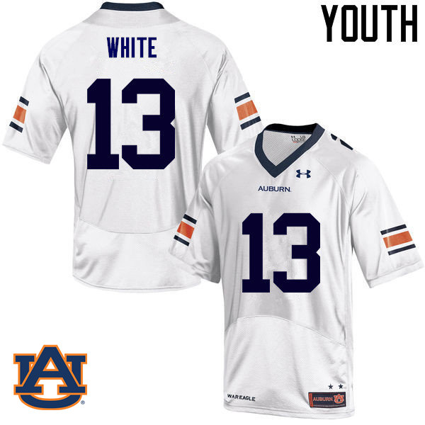 Youth Auburn Tigers #13 Sean White College Football Jerseys Sale-White