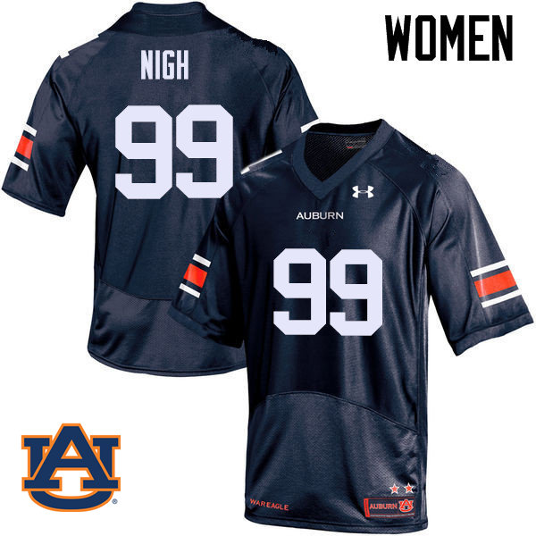 Women Auburn Tigers #99 Spencer Nigh College Football Jerseys Sale-Navy