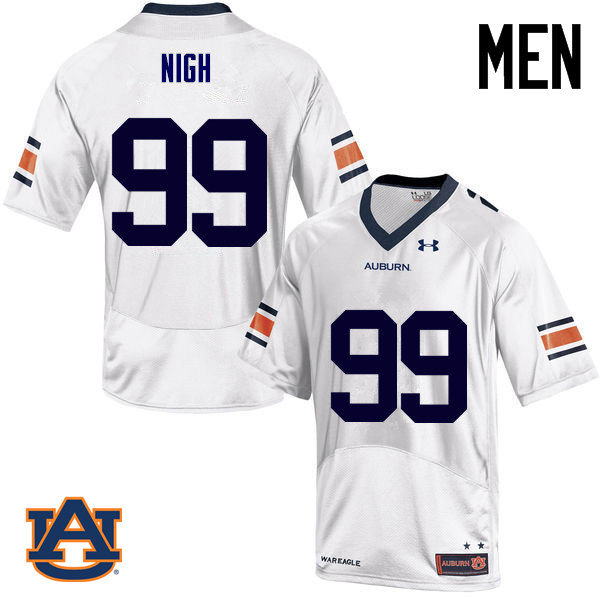 Men Auburn Tigers #99 Spencer Nigh College Football Jerseys Sale-White