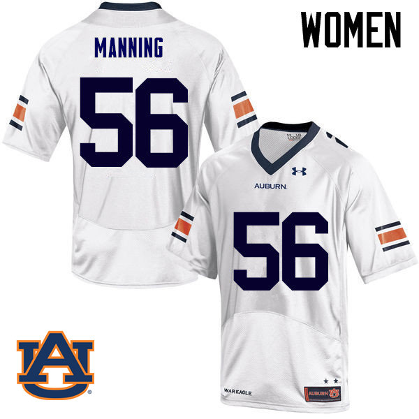 Women Auburn Tigers #56 Tashawn Manning College Football Jerseys Sale-White