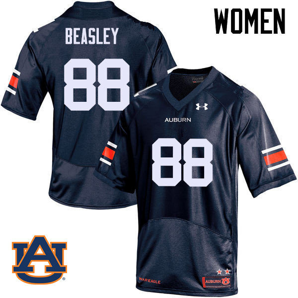 Women Auburn Tigers #88 Terry Beasley College Football Jerseys Sale-Navy