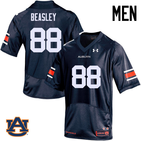 Men Auburn Tigers #88 Terry Beasley College Football Jerseys Sale-Navy
