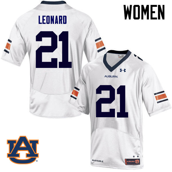 Women Auburn Tigers #21 Traivon Leonard College Football Jerseys Sale-White