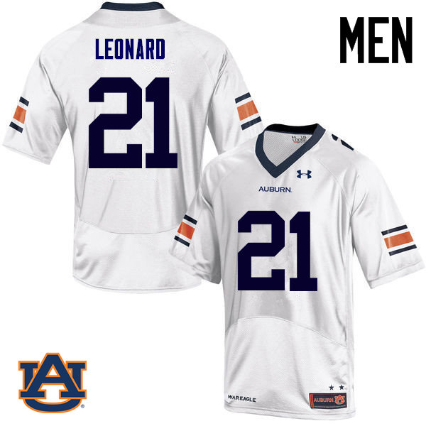 Men Auburn Tigers #21 Traivon Leonard College Football Jerseys Sale-White