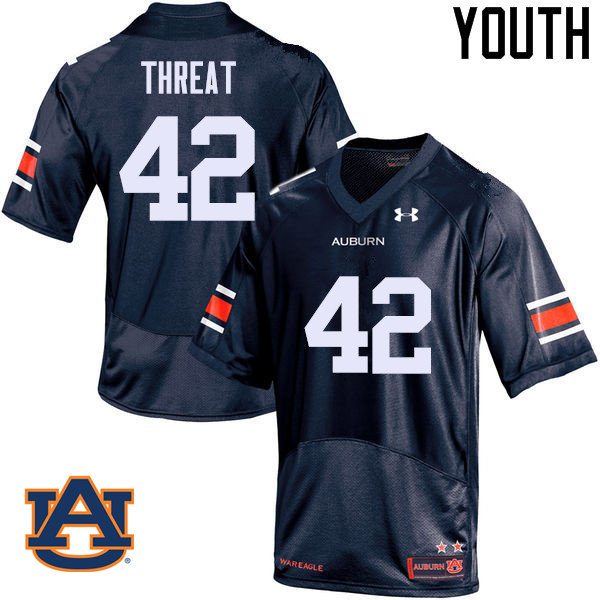 Youth Auburn Tigers #42 Tre Threat College Football Jerseys Sale-Navy