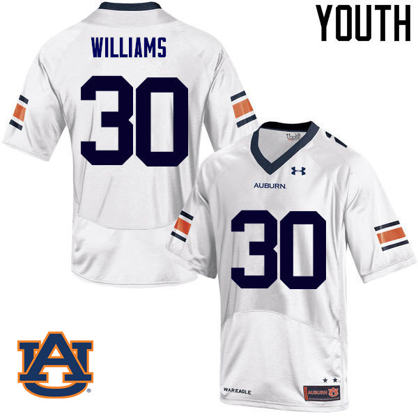 Youth Auburn Tigers #30 Tre Williams College Football Jerseys Sale-White