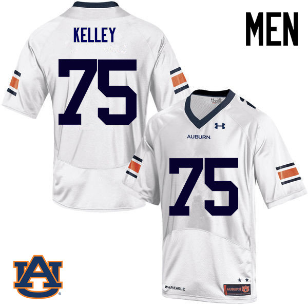 Men Auburn Tigers #75 Trent Kelley College Football Jerseys Sale-White