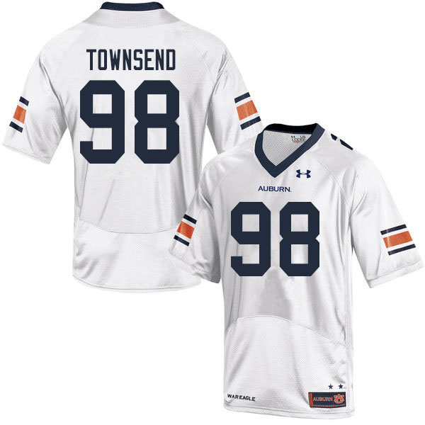 Men #98 Trent Townsend Auburn Tigers College Football Jerseys Sale-White