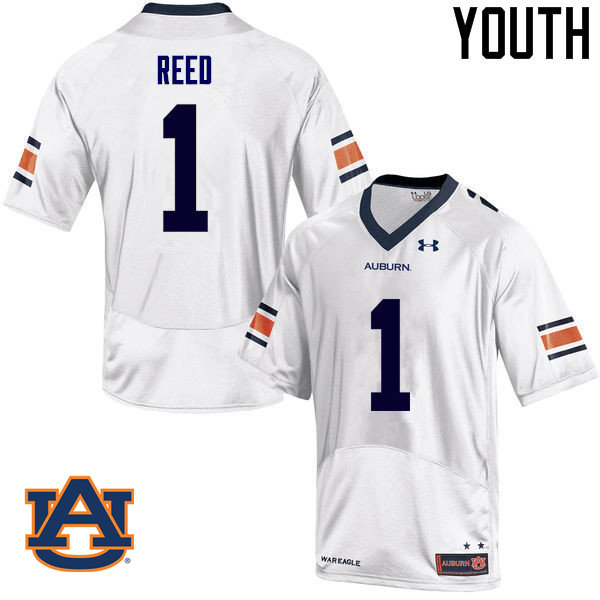 Youth Auburn Tigers #1 Trovon Reed College Football Jerseys Sale-White