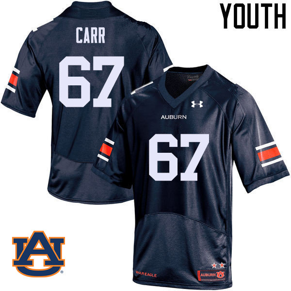 Youth Auburn Tigers #67 Tyler Carr College Football Jerseys Sale-Navy
