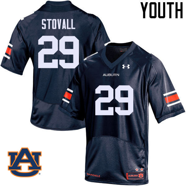 Youth Auburn Tigers #29 Tyler Stovall College Football Jerseys Sale-Navy