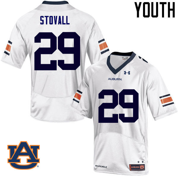 Youth Auburn Tigers #29 Tyler Stovall College Football Jerseys Sale-White