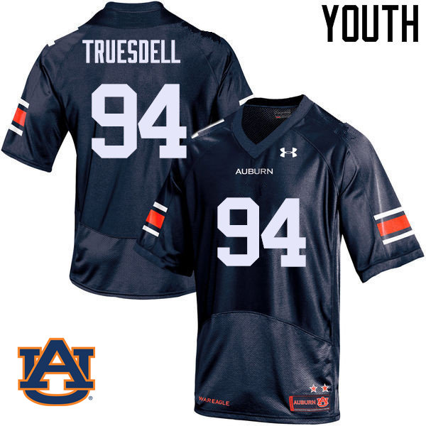 Youth Auburn Tigers #94 Tyrone Truesdell College Football Jerseys Sale-Navy