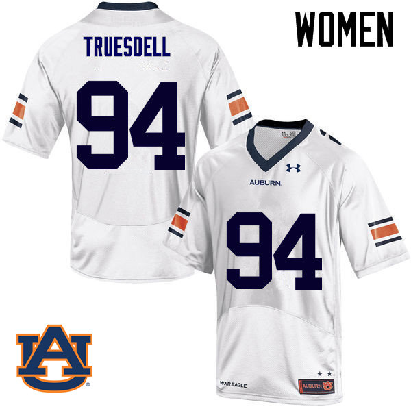 Women Auburn Tigers #94 Tyrone Truesdell College Football Jerseys Sale-White