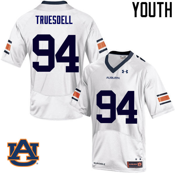 Youth Auburn Tigers #94 Tyrone Truesdell College Football Jerseys Sale-White