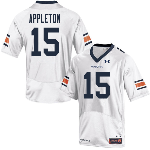 Men Auburn Tigers #15 Wil Appleton College Football Jerseys Sale-White