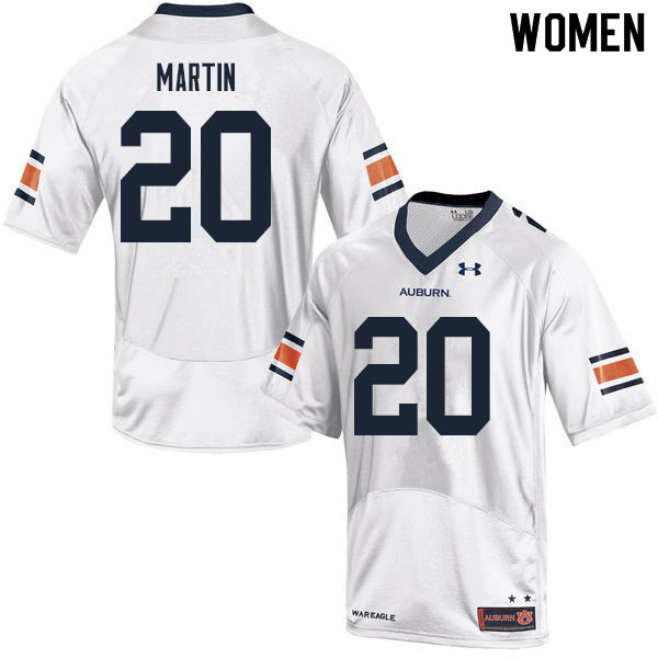 Women #20 Asa Martin Auburn Tigers College Football Jerseys Sale-White