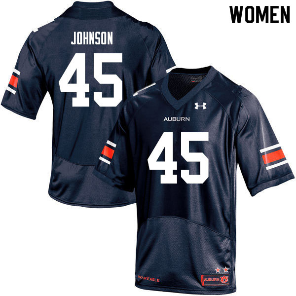 Women #45 Caleb Johnson Auburn Tigers College Football Jerseys Sale-Navy